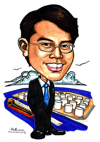 Guy caricature with VLCC