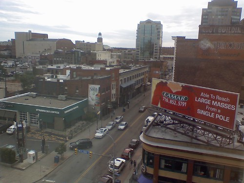 View over Chippewa. Waking up in downtown Buffalo &  celebrating 4 years of marri