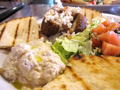 Falafel Plate (Accidental Hedonist) Tags: seattle falafel hummus pita tabouleh babaganoush zaina