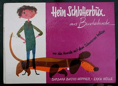 hein schlotterbx (allerleirau) Tags: dog illustration vintage book 60s dachshund retro childrensbook dackel sixties midcentury thrifted kinderbuch
