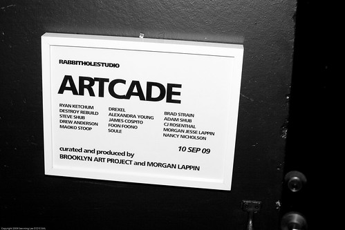 ARTCADE, Rabbit Hole Studio + Brooklyn Art Project, DUMBO / 20090910.10D.53490.BW / SML (by See-ming Lee 李思明 SML)