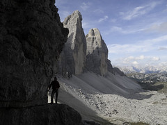 Hiking on the path of the Great War - Via ferrata Monte Paterno, Dolomiti di Sesto