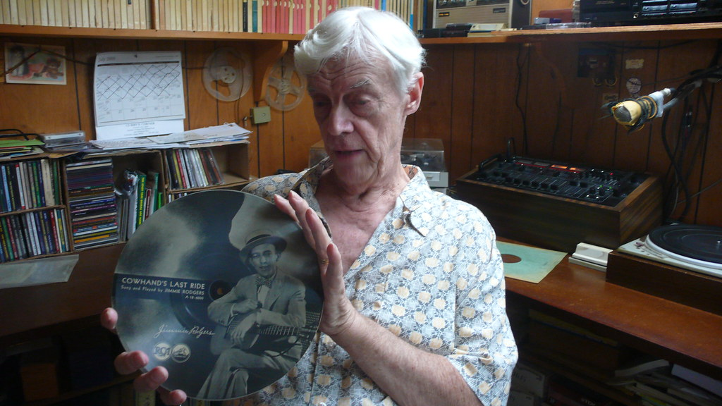 Joe displays his original Jimmie Rodgers picture disc