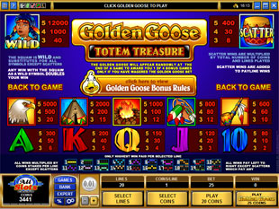 free Golden Goose Totem Treasure slot mini symbol
