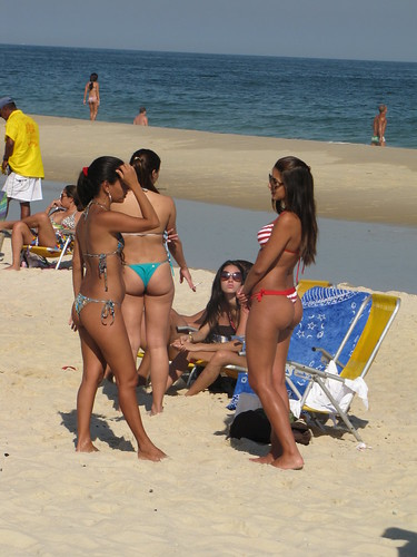 Ipanema Beach Brazil. Chicks on Ipanema Beach