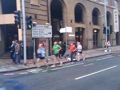 Comedian Eddie Izzard running his 43rd marathon