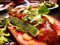 Fatty Dog, Fatty Crab, UWS, NYC (KAC NYC) Tags: new york city nyc food sauce sausage crab pork potato fatty garlic roll xo pickled radish cilantro cucumbers chilis uws belachan restaurany phude