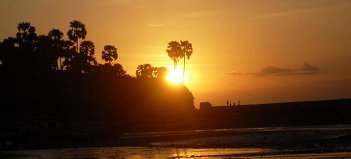 Sunset di Pantai Lasiana, Kupang, NTT