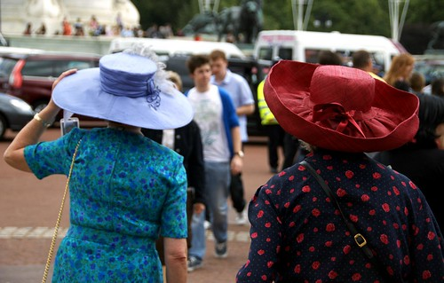 the ladies with the big hats, london