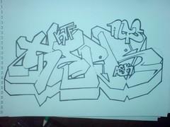 Outline for Sepr (AltsOner) Tags: bristol graffiti sketch drawing graf newport blackbook alts sepr