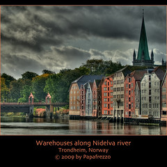 Warehouses along Nidelva river - Trondheim, Norway (Papafrezzo,  2007-2012 by www.papafrezzo.com) Tags: nid river wooden waterfront trondheim hdr warehouses nidelva noorwegen photomatix d80