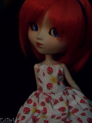 Colibrie (Zoo*) Tags: blue red rouge strawberry doll bleu pullip custom mole custo fraise beautyspot coolcat kirsche graindebeaut colibrie obitsu25cm
