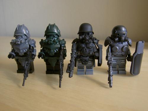 HAZEL custom minifigs in a row