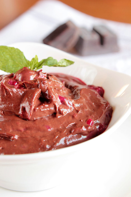 Chocolate Raspberry Pots de Creme