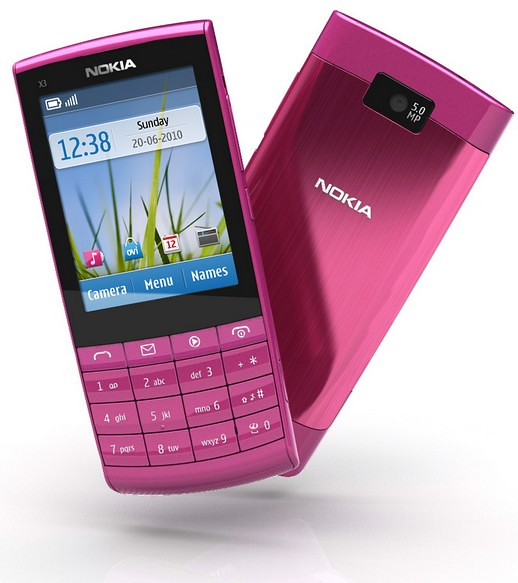 nokia x3 touch and type email application