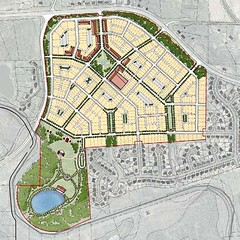 """central common"" scenario (by: Dover, Kohl via draft Redevelopment Plan)"