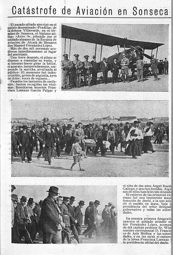 Crónica de la catástrofe del avión AVRO en Sonseca en 1924. Diario El Castellano