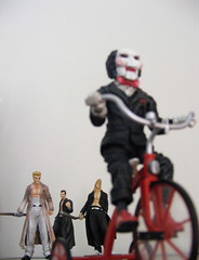 trouble (nuo2x2) Tags: boys toys saw action bad trading killer figure jigsaw gashapon bully badboys badboy gank jfigure nuo2x2