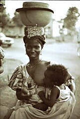 Bamako Mali Mother feeding child Sepia 1995 003 Beautiful African Mother and Child (photographer695) Tags: girls beautiful sepia child feeding african mother 1995 mali ethnic bamako