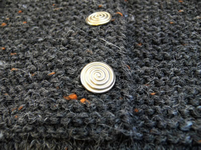 buttons for garter stitch yoke vest