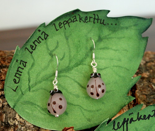 Pink Ladybird earrings