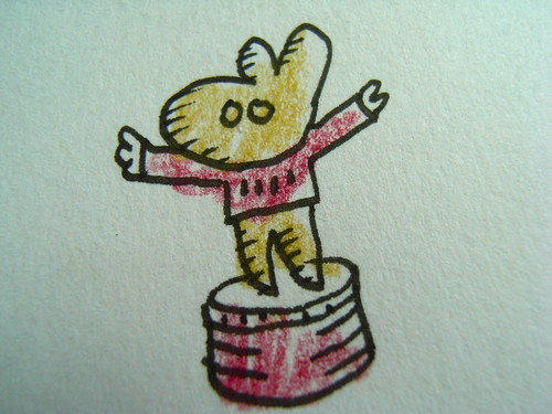 Bear on a Drum