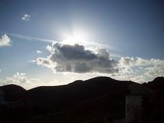 Light and Shadow (Kuzeyli48) Tags: blue winter light shadow sky cloud sun mountain windmill contrast turkey dark garbage bright smoke hill ground bodrum sunray dumping gmlk mula peksimet