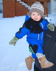 Playing in the Snow (TroySims) Tags: winter snow quin kajsa