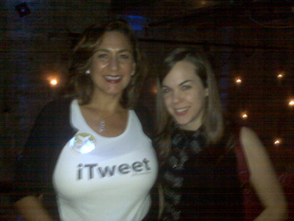 @MarthaVan Wearing an iTweet tank at the Shorty Awards