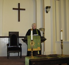 Rev. VanBuskirk at the lectern (docmobley) Tags: icestorm presbyterianchurch kennettmissouri