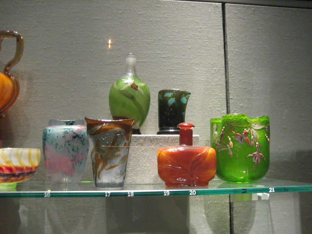 Small Glass French Art Nouveau Vases