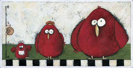 经典插画/三只小母鸡
