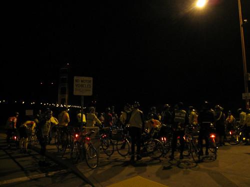5:54am, pre-ride meeting