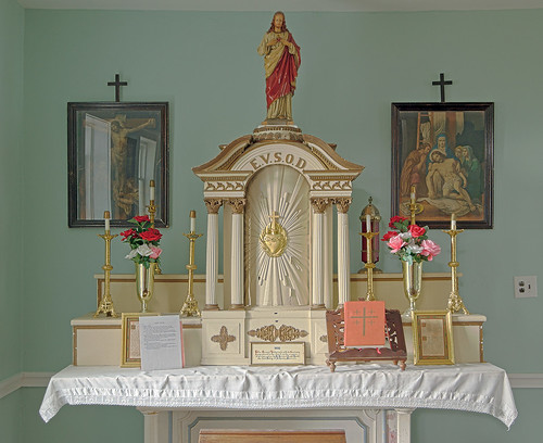 Old Saint Ferdinand Shrine, in Florissant, Missouri, USA - old altar in Convent