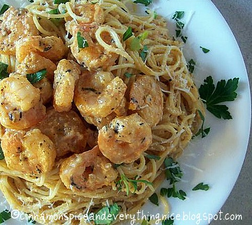 Fiery Shrimp Alfredo