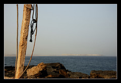 (Vahid.Hm) Tags: wood sea rock d50 island persian nikon iran rope string naaz vahid qeshm teared hormozgan upcoming:event=2112901