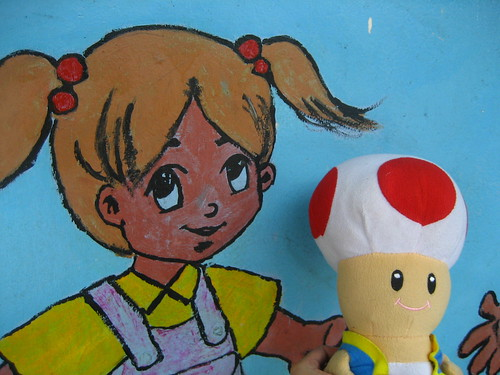 Toad meets girl