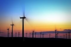 Project: Wind 001 (Stuart Stevenson) Tags: longexposure sunset sky motion colour windmill silhouette clouds canon scotland canon300d wind tripod stuart forth environment windturbine windfarm vernalequinox blacklaw stuartstevenson canonef28mm135mmf3556isusm 3meninabar stuartstevenson