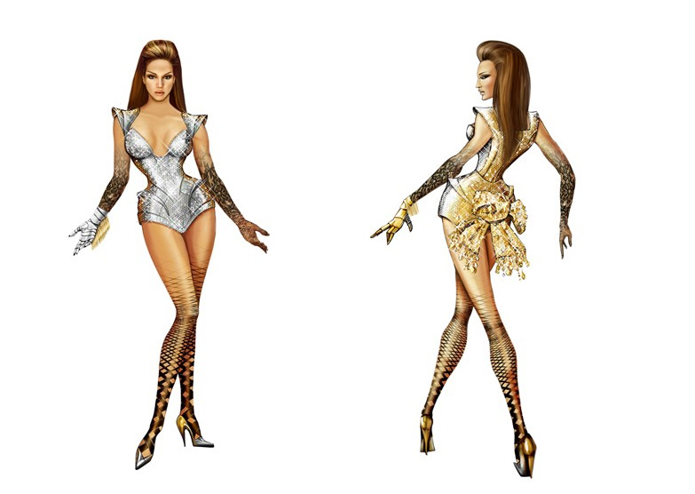 Thierry Mugler Designs for Beyonce World Tour