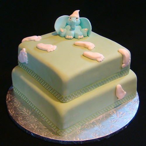Elephant Baby Shower Cake (Boy)