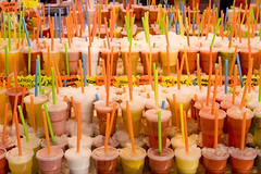 Barcelona (Bert Kaufmann) Tags: barcelona color colour colors fruit spain barca colours market drink straw cups drinks marketplace markt smoothies smoothie espagne straws boqueria spanien ramblas spanje rietje mercat marktplaats rietjes kleur mercatdelaboqueria kleuren juize flickrsbest flickraward drinkbekers