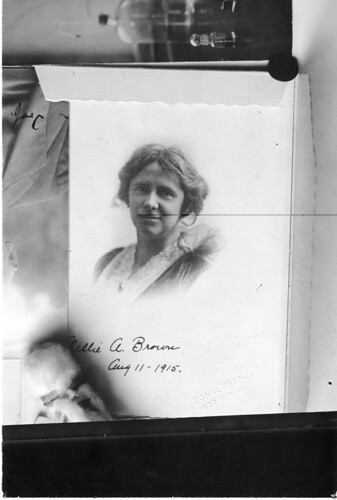 Nellie A. Brown (1876-1956), Date unknown, by Unidentified photographer, Black-and-white print, Smit