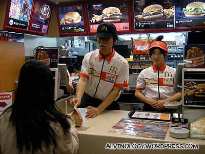 Buying supper from McDonalds