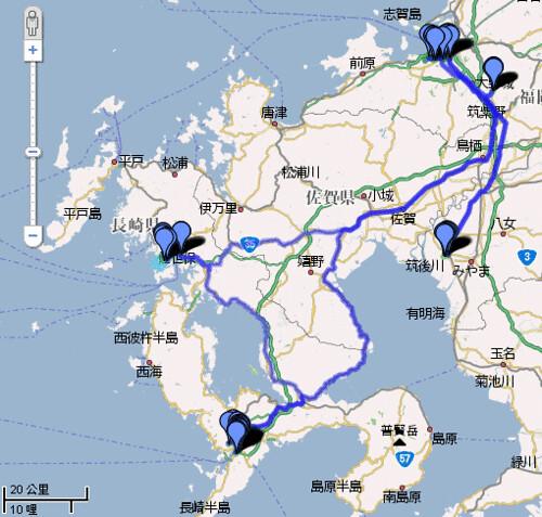 All Route in Fukuoka and Nagasaki