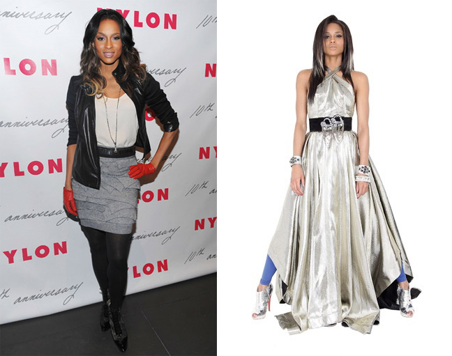 Ciara at Nylon party and in WWD