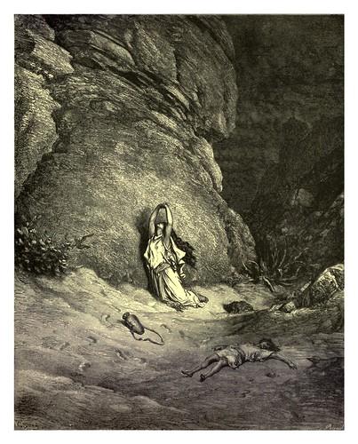 019- Hagar en el desierto-Gustave Doré