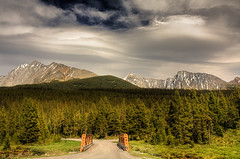 The last major crossroad (JoLoLog) Tags: bridge trees canada mountains forest rocky alberta soe hdr lorien smithdorrientrail kananaskiscountry canadianrockies platinumphoto worldwidelandscapes canonxsi artofimages bestcapturesaoi tockies thelastcrossroad