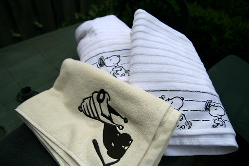 Mutts and Snoopy towels by you.