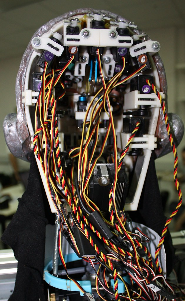 Back side of robot's head from project INDIGO.