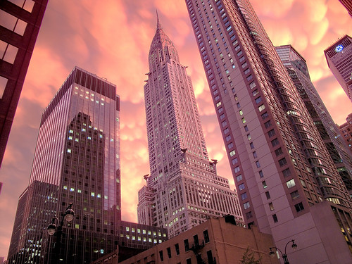 Chrysler building storm sunset 2 by you.